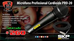 La Púa San Miguel: Micrófono Profesional Cardioide SKP PRO-20