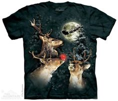 The Mountain Deer T-shirt   Three Reindeer Moon, New 2014 Adult T-shirts from The Mountain, 108398