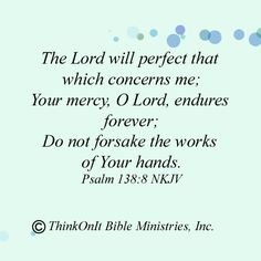 God takes perfect care of me!