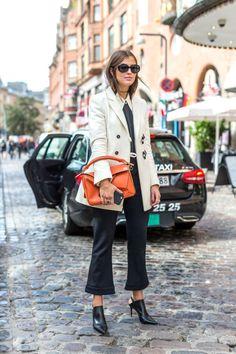 17 photos of street style at Coppenhagen fashion week: Workwear