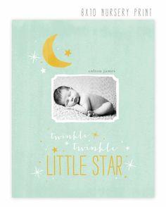 Celestial Birth announcements from Jamie Schultz Designs