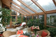 ameublement de terrasse d'hiver vitrée