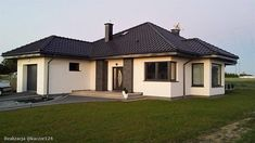 Projekt domu Hipokrates 113,85 m2 - koszt budowy 245 tys. zł - EXTRADOM Design Case, Photography Projects, Home Fashion, Bungalow, House Plans, Sweet Home, Villa, Exterior, House Design