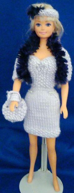 Ladyfingers - Barbie - Strapless Gown, Jacket, Hat & Purse