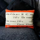 Train Ticket Cushion