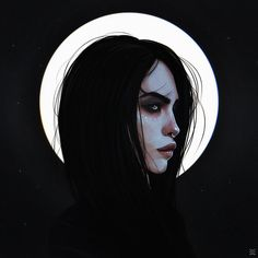 Image shared by Saturne. Find images and videos about art and dark on We Heart It - the app to get lost in what you love. Dark Fantasy Art, Fantasy Kunst, L'art Du Portrait, Digital Portrait, Dark Portrait, Cartoon Kunst, Cartoon Art, Inspiration Art, Art Inspo