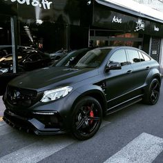 Matte Black Mercedes SUV