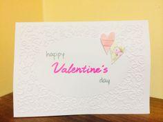 Handmade Valentine's Card  Happy Valentine's Day by PandaVillage, £1.66