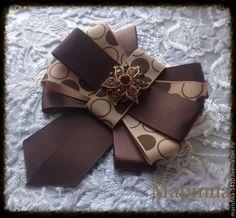 Купить или заказать Женский галстук -брошь(Коричневая коллекция)