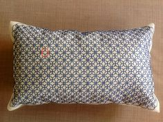 Modern home decoration embroidered pillow in by InterwovenGlobe