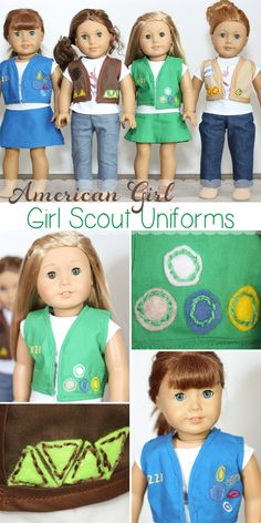Hey, hey, hey! I haven't made anyAmerican Girl Doll Clothes in a long time. Had you noticed? Today, the drought is over! I made new Girl Scout Uniforms for my girls dolls. I've got all the cute details for you, should you have a Girl Scout and American Girl Doll fans in your house.I hadn't…