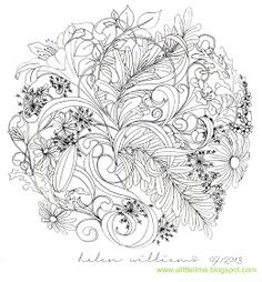 a little lime: floral sphere by Helen Williams