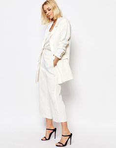 Imagen 1 de Falda pantalón de lino con diseño sartorial Elise de Gestuz