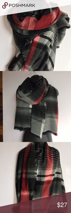 "Plaid blanket scarf Plaid blanket scarf. Size 78""X29"" Merona Accessories"
