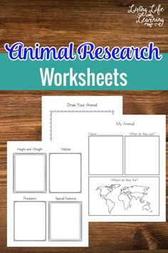 Here are FREE Animal Research Worksheets. These are perfect for learning about animals.      Need more science resources? Click here for