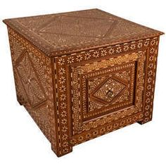 Antique And Vintage Teak Bone Inlay Furniture - Anglo Indian Bone Antique Inlay Chair Manufacturer from Jodhpur Antique Sideboard, Wood Chest, Arabian Nights, Art Furniture, Teak Wood, Asian Art, Mosaic, Decorative Boxes, Mid Century