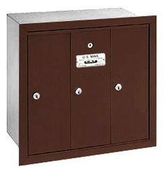 Vertical Mailbox - 3 Doors - Bronze - Recessed Mounted - USPS Access by Salsbury Industries. $98.96. Vertical Mailbox - 3 Doors - Bronze - Recessed Mounted - USPS Access - Salsbury Industries - 820996441126