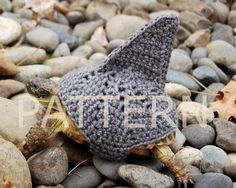 PATTERN .. shark fin cozy for tortoises. LOL... who knew? Love it.. how cute!