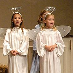 """Angel costumes are essential to a Christmas play! An angel brought the shepherds the news of the birth of the Savior. A host of angels sang, """"Glory to God in the highest."""" If your child will be an angel in a Nativity play or Sunday School play, look at www.ChristmasNativityCostumes.com/angel-costume/ for great angel costume ideas including wings, halos and a harp. (Adults can be angels, too!)"""