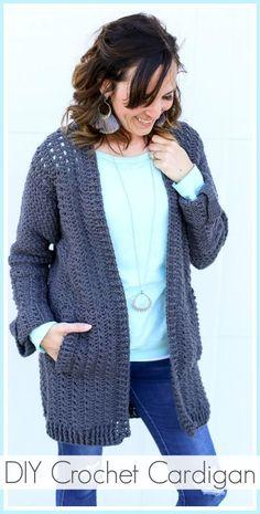 DIY Crochet Cardigan