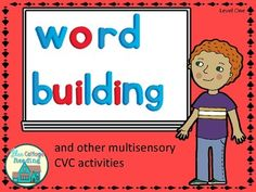 Word building is a phonics activity that you can start as soon as your students have learned the first few consonant sounds and a short vowel. Great Kindergarten Homeschool activity!