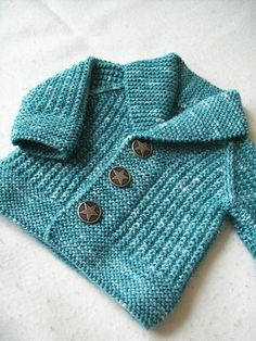 Baby Knitting Patterns Ravelry: Oscar pattern by Lili Comme Tout. 3 months to 8 yea… (NewBorn Baby Stuff) Knitting Patterns Boys, Baby Sweater Knitting Pattern, Baby Sweater Patterns, Knit Baby Sweaters, Knitted Baby Clothes, Knitting For Kids, Baby Patterns, Free Knitting, Crochet Patterns