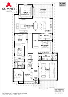 New House Plans, Dream House Plans, House Floor Plans, Summit Homes, Bath Store, Garage Entry, Home Design Floor Plans, Bedroom House Plans, Display Homes