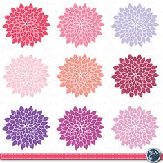 INSTANT DOWNLOAD/ Digital Flower Clip ArtFlowers by YenzArtHaut, $3.00