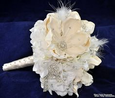 Queen Magnolia in White and Ivory by Blue Petyl Bouquets #wedding #bouquet #magnolia