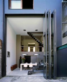 jansen viss double height steel accordion doors.