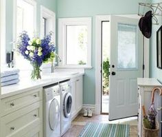 I would do laundry everyday if I had a laundry room as inviting as this!