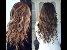 When it comes to best balayage highlights or ombre hair color people always confuse these two styles. Lets check the detail with Organic Hair Colors, NOW! Balayage Ombré, Hair Color Balayage, Balayage Highlights, Auburn Balayage, Purple Balayage, How To Curl Short Hair, Long Curly Hair, Wavy Hair, Sleek Hair