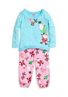J Khaki   2-Piece Christmas Pajama Set Girls 4-16