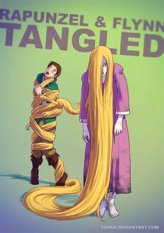 Rapunzel / Samara - 17 ilustrações mostram seus personagens favoritos como você nunca viu - Mega Curioso