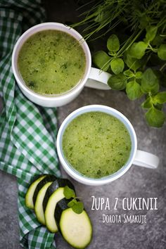 Zupa_z_cukinii Clean Recipes, Raw Food Recipes, Diet Recipes, Cooking Recipes, Healthy Recipes, Low Calorie Recipes, Healthy Soup, Food Allergies, Food Design