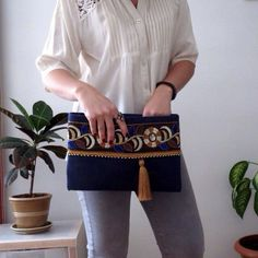 Bohemian Clutch Ethnic handbag Womens bag by BOHOCHICBYDAMLA