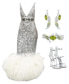 """""""Feathers in the 20's  (ms)"""" by ale-pink5 ❤ liked on Polyvore featuring Chanel and Giuseppe Zanotti"""
