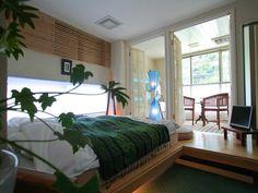 清涼感あふれる緑を基調としたお部屋「早蕨(さわらび)」