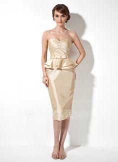 Mother of the Bride Dresses - $99.99 - Sheath Sweetheart Knee-Length Taffeta Mother of the Bride Dress With Ruffle Beading (008003203) http://jjshouse.com/Sheath-Sweetheart-Knee-Length-Taffeta-Mother-Of-The-Bride-Dress-With-Ruffle-Beading-008003203-g3203?ver=n1ug2t&ves=vnlx6