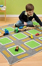 Make It: Crochet Kids Roadway Throw - Free Pattern #crochet #kids