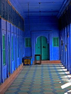 Rajasthan. Surrounded in cobalt, dreamy.