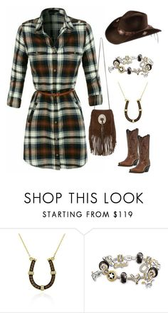 """""""Cowgirl At Heart♡"""" by im-karla-with-a-k ❤ liked on Polyvore featuring LE VIAN, The Bradford Exchange and Yves Saint Laurent"""