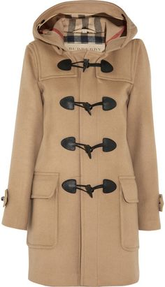 BURBERRY Woolfelt Duffle Coat - Lyst More Fashion at www.thedillonmall.com