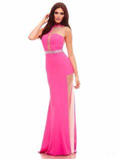 #thinkpink ! #pinkdress #amazing dress / Wieczorowa suknia w intensywnym odcieniu fuksji