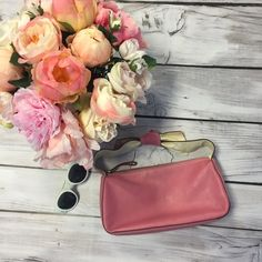 Kate Spade Bow Bag!  Smaller sized pink purse! Perfect for spring and a feminine touch! Light wear - picture depict the condition well! kate spade Bags Mini Bags