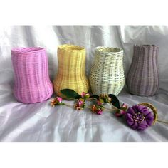 Rattan Basket, Napkin Rings, Crafts, Home Decor, Manualidades, Decoration Home, Room Decor, Handmade Crafts, Interior Design