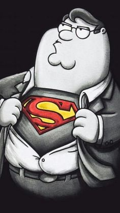 Today is a good day to Binge on Family Guy. Check out this art work of Family Guy Peter Griffin As Super, By Family Guy Peter Griffin, Peter Family Guy, Family Guy T Shirt, Family Guy Funny, Anime Superhero, Simpsons, Tattoo Zeichnungen, American Dad, Free Anime