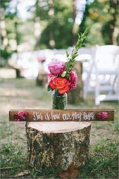 rustic wedding ceremony decor ideas