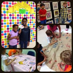 Mrs. Knight's Smartest Artists: Best Fine Arts Night ever! This blog post has some awesome collaborative work ideas!