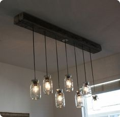 how make a kitchen light with mason jars   Mason Jar Chandelier